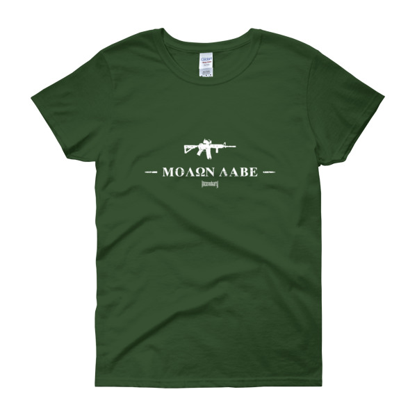 Incendiary Molon Labe Women's T-Shirt